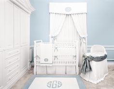 Palm Beach Blue Crib Bedding - Traditional - other metro - by Sterling Anabella