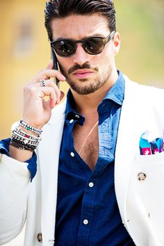 Street Looks from Milan Menswear Week Spring/Summer 2016 44 Sharp Dressed Man, Well Dressed Men, Street Looks, Street Style, Fashion Moda, Mens Fashion, Fashion 2016, Street Fashion, Fashion Week Hommes