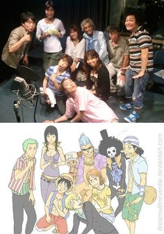 One Piece and their voice actors