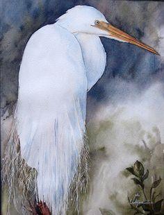 Alieh  watercolor bird by my paintings, via Flickr