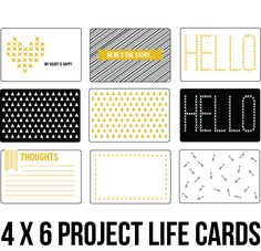 Free Project Life 4 X 6 Downloads | [ One Velvet Morning ]