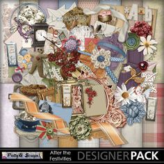 Digital Scrapbooking Kits | After the Festivities-(PattyB) | MyMemories