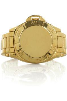 fea35d1176c3 Tom Binns - 24-karat gold-plated watch-shaped bracelet