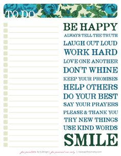 kasey A. johnson design: Free Printable: To Do List