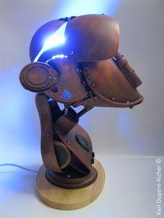 monkey lamp by Karl Dupéré-Richer #sculpture #lamp #steampunk #monkey