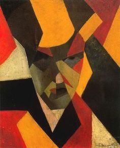 """RENE MAGRITTE - """"Autoportrait"""" (1923)  Huile sur tpile (44 x 36)"""