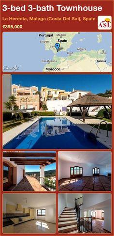 3-bed 3-bath Townhouse in La Heredia, Malaga (Costa Del Sol), Spain ►€395,000 #PropertyForSaleInSpain
