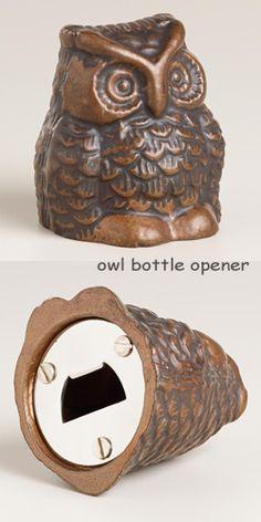 Owl Bottle Opener Pinned by www.myowlbarn.com