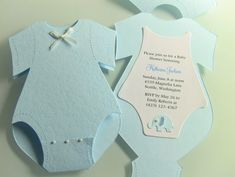 25 Onesie Baby Shower Invitations