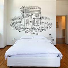 Paris, Arch of Triumph ::: wall sticker by Pere Virgili