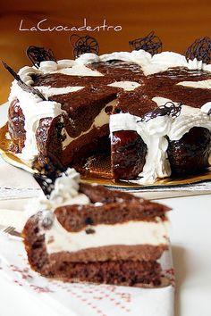 """""""Torta ricotta e babà al cioccolato e caffè"""""""