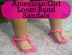 Rainbow Loom American Girl Sandals - Diagrams and Full video tutorial!