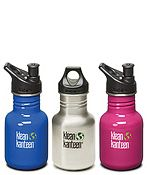 12oz Kanteen Classic. BPA free.Klean Kanteen is working to offset the carbon footprint of shipping all online orders.  A member of 1% for the Planet, donating 1% of profits to environmental programs.  They have a giant list of other things they are involved with on their webpage:http://www.kleankanteen.com/about/sustainability.php