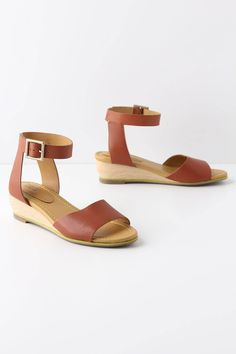 pretty for summer, better than flip flops for work, not in price range. see by chloe at anthro.