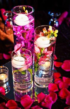 candles, details, cylinder vases