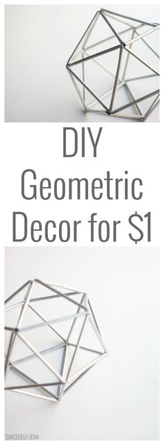 DIY geometric decor for 1 dollar. Decoration inspiration Source by shambray Diy Home Decor Easy, Handmade Home Decor, Unique Home Decor, Cheap Home Decor, Decor Diy, Creative Decor, Room Decor, Diy Birthday Decorations, House Decorations