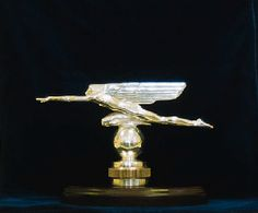 "Harriet Frishmuth - ""Speed"" - One of only two designs for car mascots commissioned by Gorham in the 1920's by this well-known American sculptress"