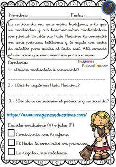 Textos cortos para trabajar la comprensión lectora - Imagenes Educativas Spanish Class, Teaching Spanish, It Works, Facts, How To Plan, Printables, Spanish Activities, Learn Spanish, Texts