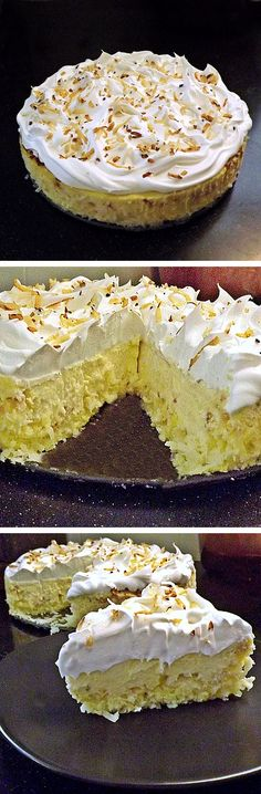 Coconut Cheesecake. I want to make this. # I love cheese cake and coconut. # looks good