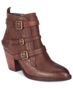 1f94bc55c11 Nine West Fitz Buckle Block-Heel Booties   Reviews - Boots - Shoes - Macy s