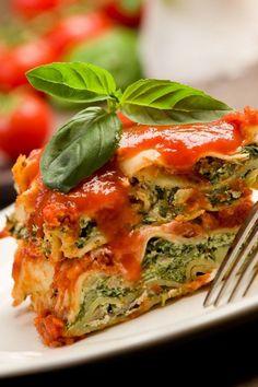 Extra-Easy Italian Spinach Lasagna #Recipe