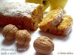 Plumcake con zucca, mele e noci, ricetta dolce senza burro