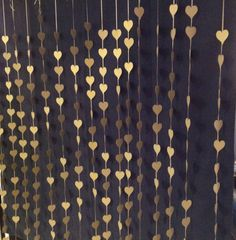 Gold hearts photo booth backdrop. Wedding curtain, Ceremony backdrop, Paper Hearts Curtain, Photography Backdrop, DYI Photobooth.