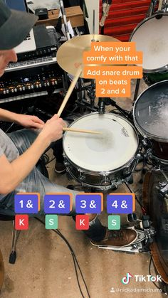 This is a basic drum lesson. Learn your first drum beat in 25 seconds! Includes visual note breakdown and instructions to guide you through learning your first drum groove Music Lessons For Kids, Music Lesson Plans, Drum Lessons, Guitar Lessons, Drum Sheet Music, Drums Sheet, Learn Drums, How To Play Drums, Samba Drums