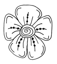 how to draw an easy flower   kids: drawing   pinterest   best
