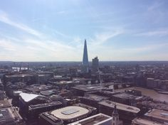 The Shard on a sunny warm day, Europe's tallest skyscraper.