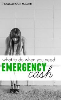 Are you caught in a pinch?Here's some ways where you can get quick emergency cash. Personal Finance tips