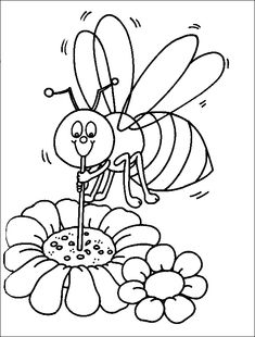 bee_coloring_pages_011 - Lots of coloring pages on this site.