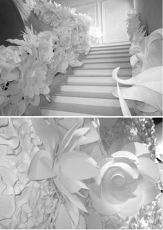 Paper laser cut - Design for Karl Lagerfeld's breathtakingly beautiful all-white collection for Chanel.