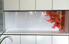 Galleri | Glamitec AS - Digitaltrykk på glass My Home Design, House Design, Splashback, Glass Film, Backsplash, Room, Kitchens, Painting, Exercise