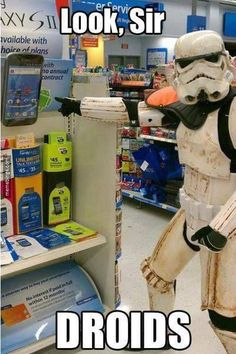 Storm trooper going shopping
