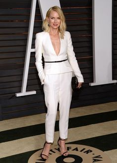 On board with the white pantsuit trend? Tweet us a pic of YOU rocking it and you could be on E! #WhoWoreItBetter