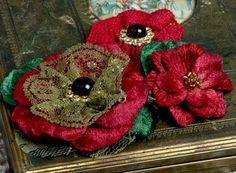 Petaloo Blumen, rot - Ihr Hobby-Crafts24.eu Shop