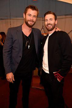 Chris Hemsworth & Chris Evans at MTV Movie Awards 2016