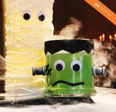 How-To Make A Frankenstein Dry Ice Centerpiece [DIY] on http://www.cherylstyle.com