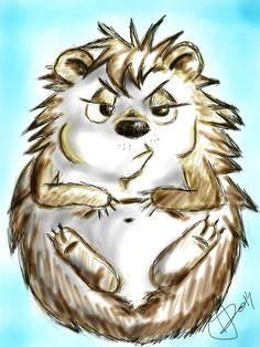 Angry cartoon hedgehog // Morcos sündisznó rajz