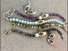 FREE Tutorial for Interlace Gemstone Bracelet & Earrings