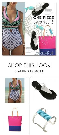 One-Piece Swimsuit by svijetlana on Polyvore featuring moda, polyvoreeditorial, onepieceswimsuit and twinkledeals