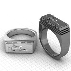 One of the more awesome Star Wars rings I have seen. Awesome jeweler with a great Etsy shop.
