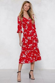 4286d94aaafa1 Are You Floral Right Now Midi Dress