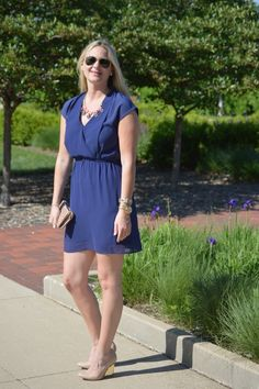 #FBF: Navy Dress | Style in a Small Town
