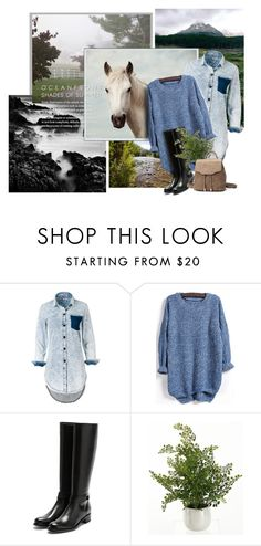 """""""Fresh Nature"""" by susli4ek ❤ liked on Polyvore featuring Lexington, Rupert Sanderson and Home Decorators Collection"""
