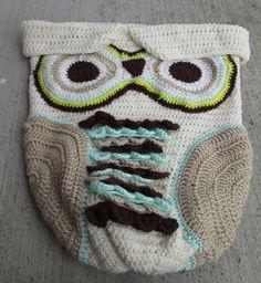 Baby Owl  cocoon by BorninBuffalo on Etsy, $50.00