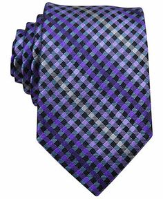 Perry Ellis Ozark Plaid Slim Tie - Perry Ellis Ties - Men - Macy's