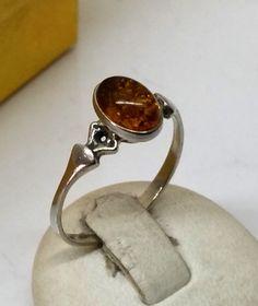 Vintage Ringe - Nostalgischer Silberring 925 mit Bernstein SR183 - ein…