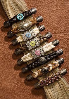 Beautiful Barrettes handmade with Authentic Horse Hair via Etsy.